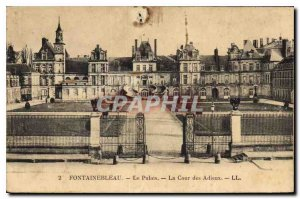 Old Postcard Fontainebleau Palace Court Farewell
