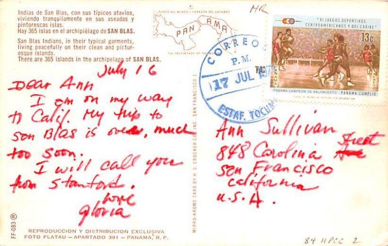 San Blas Indias San Blas Panama 1971