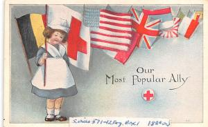 Patriotic Post Card Old Vintage Antique Postcard Most Popular Ally Unused