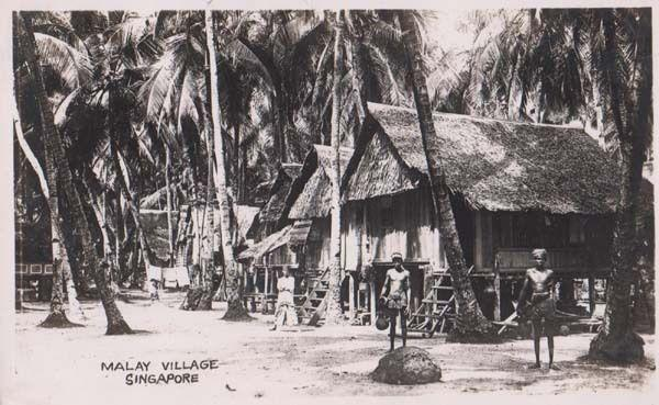 Singapore Malay Village Native Tribe Water Jug Antique WW2 Real Photo Postcard