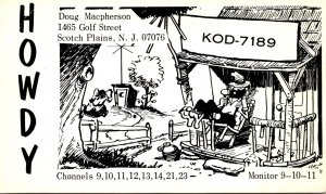 QSL Card KOD-7189 Doug Macpherson Scotch Plains New Jersey