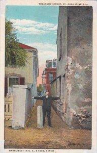 Florida Saint Augustine Treasury Street Narrowest In U S 6 feet 1 Inch 1934