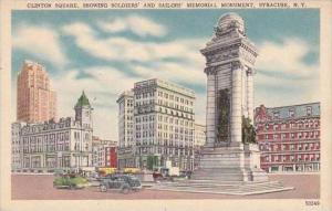 New York Syracuse Clinton Square Showing Soldiers And Sailors Memorial Monume...