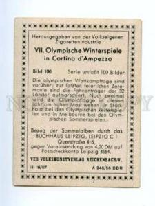 166966 Olympic Winter Games CORTINA d'Ampezzo CIGARETTE card