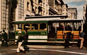 California San Francisco Cable Car On Turntable 1955