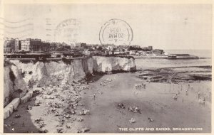 BROADSTAIRS, Kent, England, PU-1954; The Cliffs And Sands