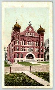 Lansing Michigan~Masonic Temple~Golden Domes~House Next Door~c1905