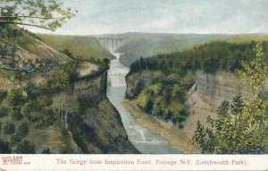 Letchworth State Park NY New York Genesee River Gorge from Inspiration Point DB