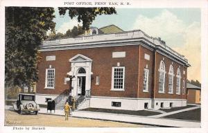 Post Office, Penn Yan, New York, Early Postcard, unused