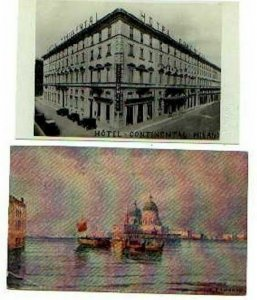 pc748 postcard Italy Milano Hotel Real Photo