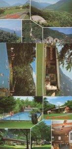 Claro Switzerland 12 Views Camping Swimming Pool 3x Postcard s