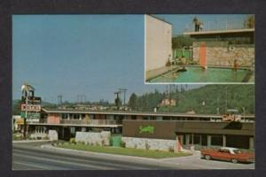 OR Motel Tropicana & Pool REEDSPORT OREGON Postcard PC
