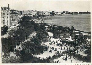 Postcard France Cannes jardins de la Croisette