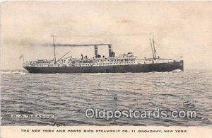 SS Brazos New York, Broadway Ship 1917