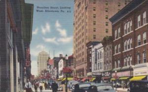 Pennsylvania Allentown Hamilton Street Looking West