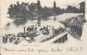 Ferry ,Thames at TAPLOW, Buckinghamshire, England, UK, 1900-10s; TUCK 2041