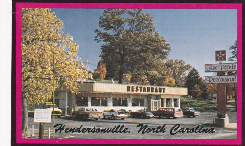 Five Points Restaurant, U.S. Highway No. 25, HENDERSONVILLE, North Carolina, ...