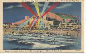 Postcard NJ New Jersey Atlantic City Ocean Twilight Sailboat Posted 1939