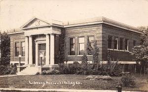 Missouri Valley IA~Carnegie Library Before Expansion Both Directions~RPPC c1910