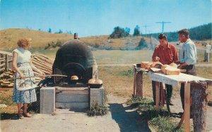 Canada Postcard Anse a Mercier Gaspe Nord old bread oven