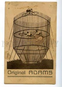 198124 CIRCUS Original 3 ADAMS Acrobat BICYCLE old ADVERTISING