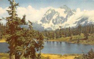 MOUNT SHUKSAN Washington Cascades Union Oil 76 Gas 1941 Vintage Postcard