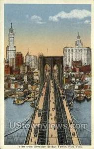 Brooklyn Bridge Tower New York City NY Unused