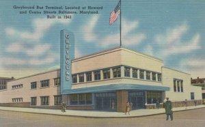 BALTIMORE , Maryland, 30-40s ; Greyhound Bus Station