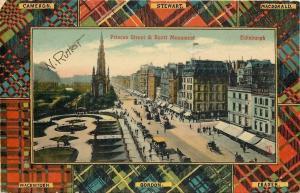 Edinburgh Scotland~Clans Tartan Plaid Border~Princes Street~Mackintosh~Stewart