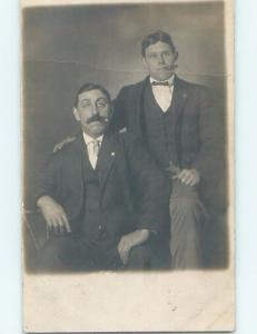 Pre-1918 rppc MEN BOTH SMOKING TOBACCO CIGARS Minneapolis - St. Paul MN HM3186