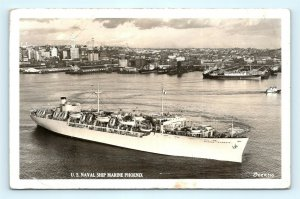 Postcard US Navy Ship Marine Phoenix C-4 Troopship RPPC Real Photo K01
