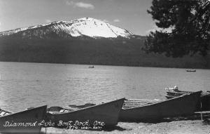 Diammond Lake Oregon Boat Dock Real Photo Antique Postcard K56318