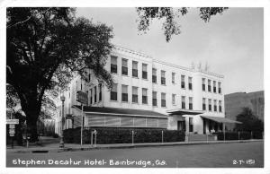Bainbridge Georgia Stephen Decatur Hotel Real Photo Antique Postcard J44250