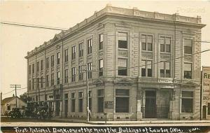 OK, Lawton, Oklahoma, First National Bank, Bates, RPPC