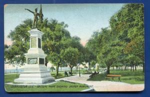 Charleston South Carolina sc Battery Park Jasper Confederate Monument postcard