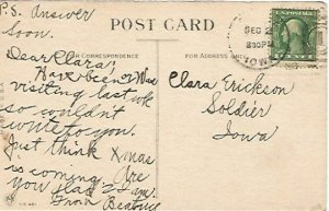 Forgetful Girl with String on Finger Vintage Postcard I Won't Forget Again