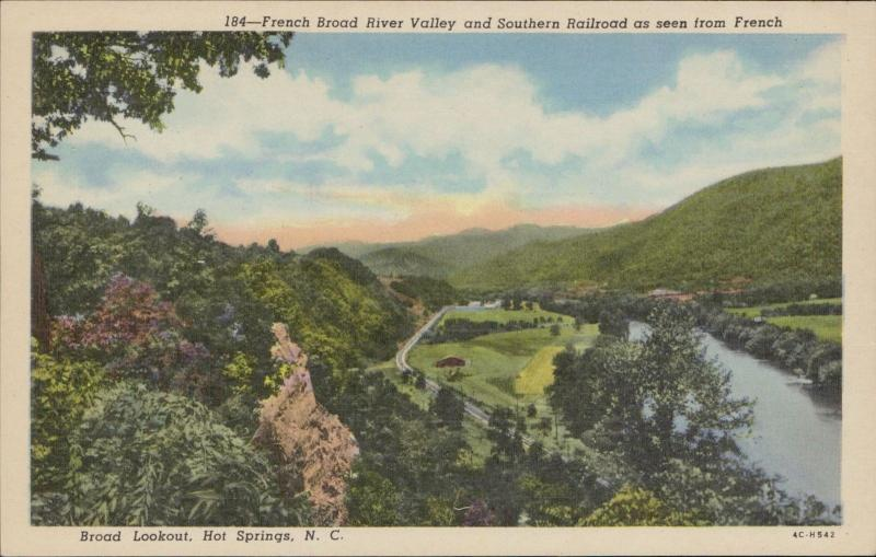 French Broad River Valley Southern Railroad Hot Springs linen