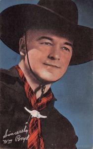 Wm Boyd Cow Boy Tradecard Antique Postcard K7876626