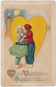 VALENTINE´S DAY : John Winsch ; 1913 ; Dutch Couple