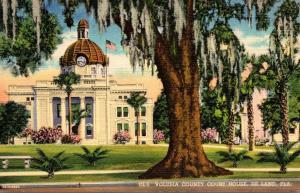 Florida Deland Volusia County Court House Curteich