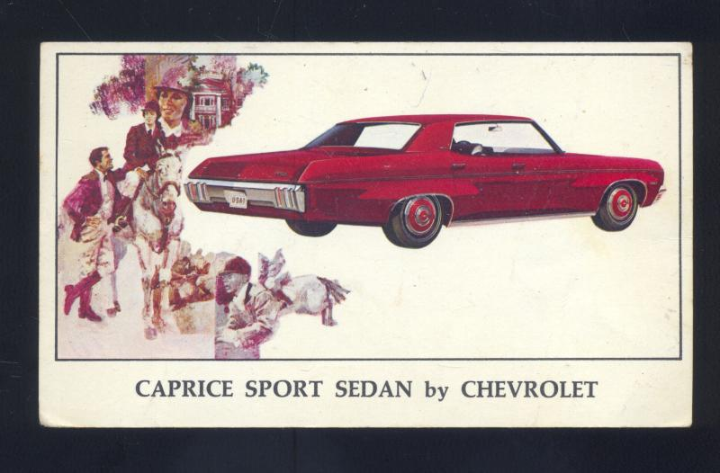 1970 CHEVROLET CHEVY CAPRICE SPRINGFIELD MO. CAR DEALER ADVERTISING POSTCARD