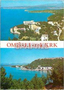 Postcard Modern Omisalj Otok KRK