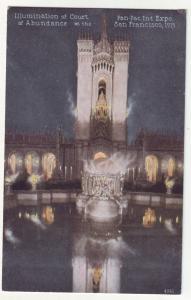 P363 JL, 1915 postcard panama pacific expo san fran ca court of abundance