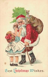 Best Christmas Wishes - Santa Claus Gives Presents - 04.25