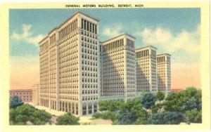 Linen of General Motors Building Detroit Michigan MI