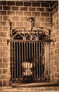CPA Evora- Sé, Porta do Baptisterio. PORTUGAL (760799)