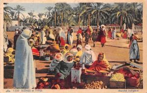 Morocco Scenes et Types Marche indigene market 1950