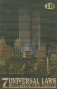 NEW YORK CITY , Twin Towers 9.11 3D Holographic Postcard Modern , 4/5