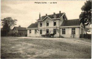 CPA AK Poligny- La Gare FRANCE- (1044308)