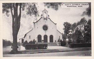 Massachusetts Wrentham St Mary's Catholic Church Dexter Press